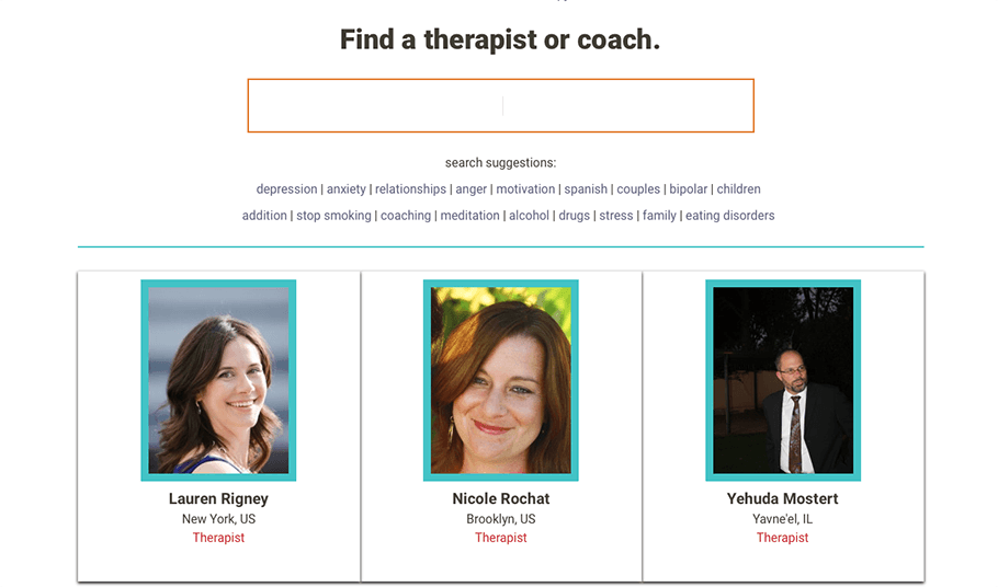 find a therapist or online therapist